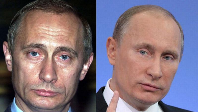 Путин и его морщины