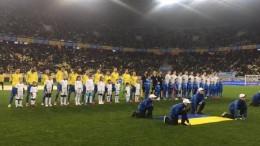 Сборная Украины обыгрывает Словакию во Львове