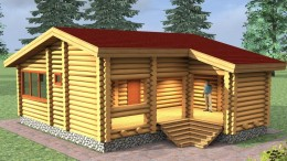 Дом из оцилиндрованного бревна в России - как заказать материалы
