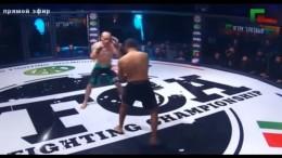 Боец Кадырова Рашид Дагаев ничего не смог сделать с Артемом Роголевичем (видео боя)