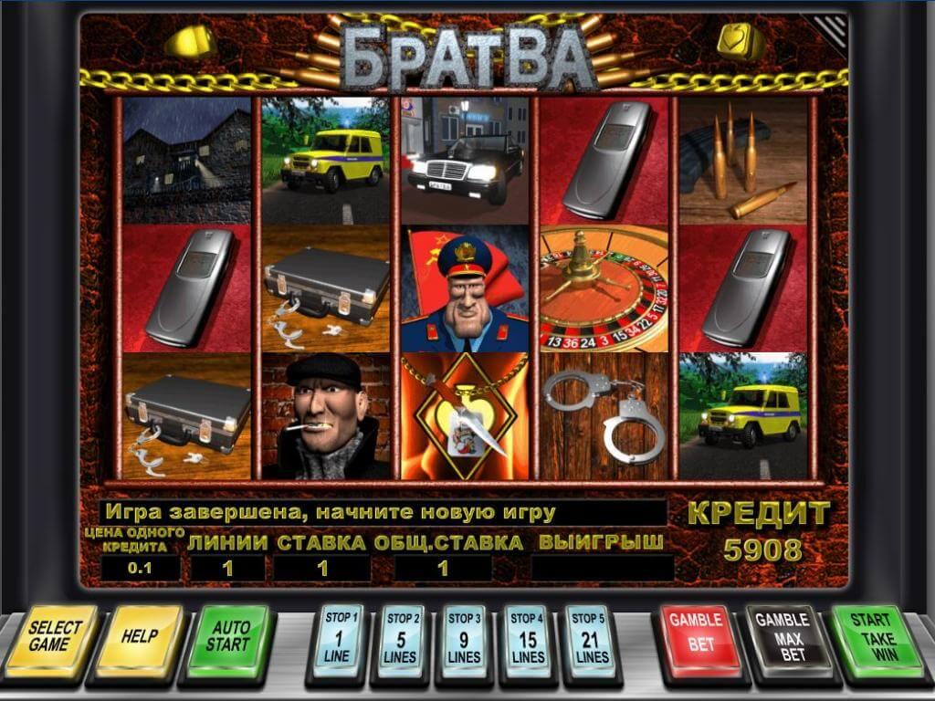 Особенности игрового автомата Братва в казино Вулкан Гранд
