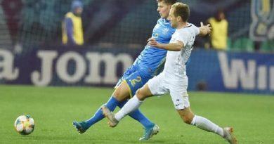 Сборная Украины с трудом обыграла Эстонию в контрольном матче