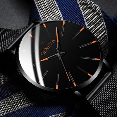 Минималистичные мужские модные ультра тонкие часы (от 192 рублей)