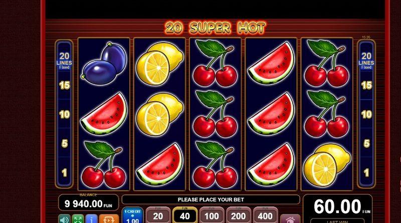 игровой автомат 20 Super Hot