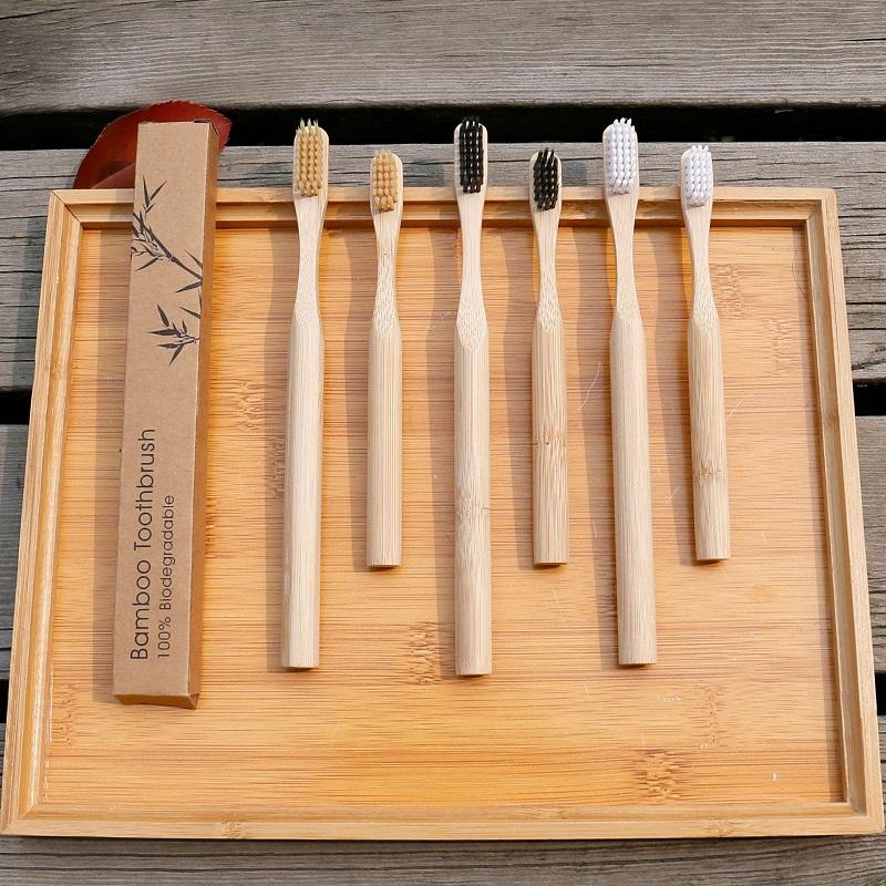 Экологичная бамбуковая угольная зубная щетка хит Алиэкспресс